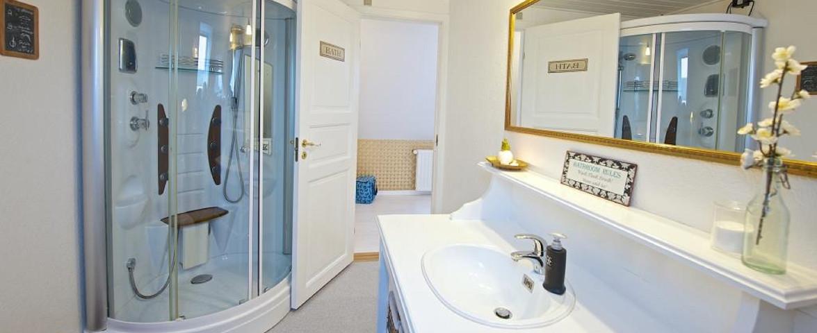 Fælles badeværelse B&B/gemeinsame Badezimmer B&B/Scharred bathroom B&B